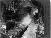 Steel workers in 1905, Meadville, Philadelphia