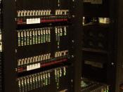 English: USR Robotics Modem banks at an ISP.