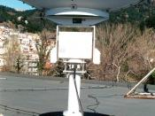 Computer controlled motorized parabolic dish antenna for tracking Low Earth Orbit weather satellites.