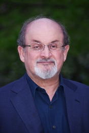 English: Salman Rushdie at the Vanity Fair party celebrating the 10th anniversary of the Tribeca Film Festival.