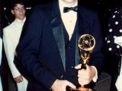 39th Emmy Awards - Sept. 1987, David Letterman holding an Emmy award