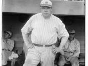 English: American baseball player Babe Ruth in 1921