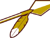 Redskins primary logo 1965-1969