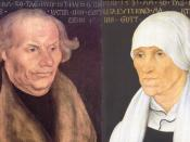 English: Portraits of Hans and Margarethe Luther (details), the parents of Martin Luther. Oil on wood, Wartburg Foundation, Eisenach.