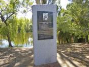 Alfred Bernhard Nobel Monument, Wagga Wagga.