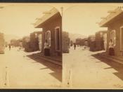Santa Fe, San Miguel Street, by Jackson, William Henry, 1843-1942