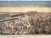 Overview of the capitulation of the British army at Yorktown, with the blockade of the French squadron.