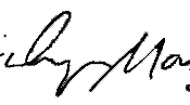 Signature of Marilyn Manson, American rock musician