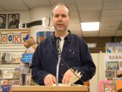 English: Douglas Coupland reading Eleanor Rigby at A Clean Well Lighted Place for Books in San Francisco.