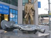 English: Sculpture Monument to the War of 1812 (2008) by Douglas Coupland in Toronto/Canada
