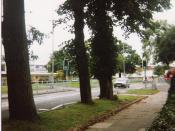 View towards Forum and Civic Centre - October 1990