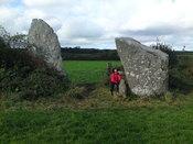 Bryn Gwyn stones with small adult