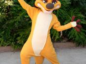 English: Timon welcomes guests of Disney's Animal Kingdom at Walt Disney World.