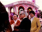 Barry Goldwater at the Fiesta Bowl Parade in 1983