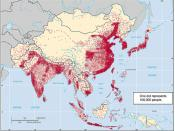 Asia Population Density Map
