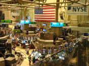 English: A view from the Member's Gallery inside the NYSE
