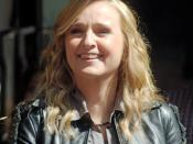 English: Melissa Etheridge at a ceremony to receive a star on the Hollywood Walk of Fame.