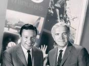 English: Publicity photo of Mike Wallace and Harry Reasoner from the premiere of 60 Minutes.
