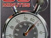 Since the late-70s, 60 Minutes' opening features a ticking Aristo stopwatch. Since October 29, 2006, the background changed to red and the clock is in the upright position.
