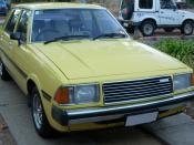English: 1980 model Mazda 626 sedan, Australia.