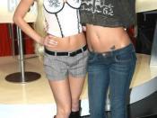 Porn star Brea bennett (left) and Codi Milo (right) at the 2007 Adult Entertainment Expo.