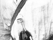 A Finnish soldier with a Molotov Cocktail.