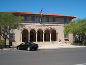 The image represents The Gowan Company Building from Yuma, Arizona, previously a post office building.