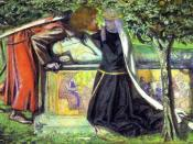 Arthur's Tomb - The Last Meeting of Lancelot and Guinevere by Dante Gabriel Rossetti
