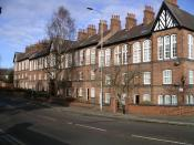 Cash's cottages, Cash's Lane, Coventry, England.