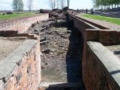 Entrance to Crematorium III in the concentration camp Auschwitz II (Birkenau)