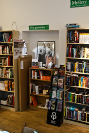 English: A section devoted to the beat generation at a bookstore in Stockholm, Sweden.