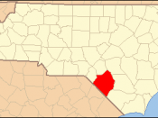 Locator Map of Robeson County, North Carolina, United States
