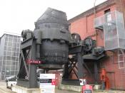 English: Bessemer Converter, outside entrance to Kelham Island Museum, Sheffield S3 8RY