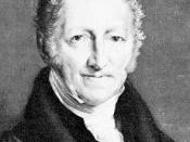 Malthus cautioned law makers on the effects of poverty reduction policies.