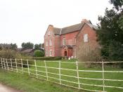 English: Exchequer Court, Thruxton Originally a 17th century timber framed and brick farm house with much dating from the 18th century.
