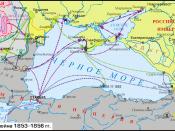 English: Map of Crimean War. The legend is in File:Crimean-war-1853-56-legend.png.
