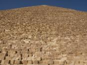 English: Side of the Pyramid of Cheops.