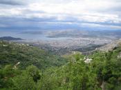 English: Volos view from mount Pelion Ελληνικά: Θέα από το Πήλιο