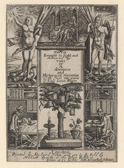 King James I of England and VI of Scotland with Truth and Time, Memory and History, by John Droeshout (died 1652), published 1651. See source website for additional information. This set of images was gathered by User:Dcoetzee from the National Portrait G