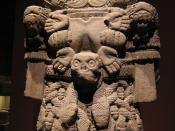 English: Aztec statue of Coatlicue, the earth goddess from the Museo Nacional de Antropología in Mexico City.