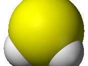 Space-filling model of the hydrogen sulfide molecule, H 2 S