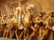 English: Memorial to Robert Gould Shaw and the Massachusetts Fifty-Fourth Regiment, 1884 - 1897. Augustus Saint-Gaudens (1848 - 1907). Plaster original,http://www.nga.gov/feature/shaw/s4300.shtm National Gallery of Art, Washington, D.C..