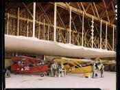 Civil Air Patrol Base, Bar Harbor, Maine. The hangar of Coastal Patrol #20  (LOC)
