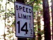 Speed Limit 14.5 MPH