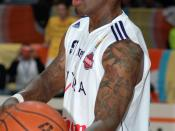 Dennis Rodman playing for Torpan Pojat (Finnish national league team) in November 6th 2005 in Helsinki, Finland.