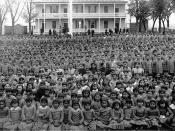 English: Pupils at Carlisle Indian Industrial School, Pennsylvania (c. 1900) Source: Frontier Forts