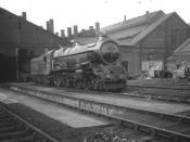 6022 King Edward III outside Swindon shed. 1954