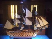 A Scale model of a typical 17th century Dutch East India Company warship