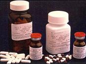 English: AZT (zidovudine), the first medication shown to be effective against HIV. From the National Institutes of Health website (http://www.history.nih.gov/NIHInOwnWords/docs/page_05c.html).