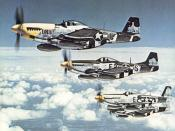 The North American P-51 Mustang is one of the best-known escort fighters of World War II.